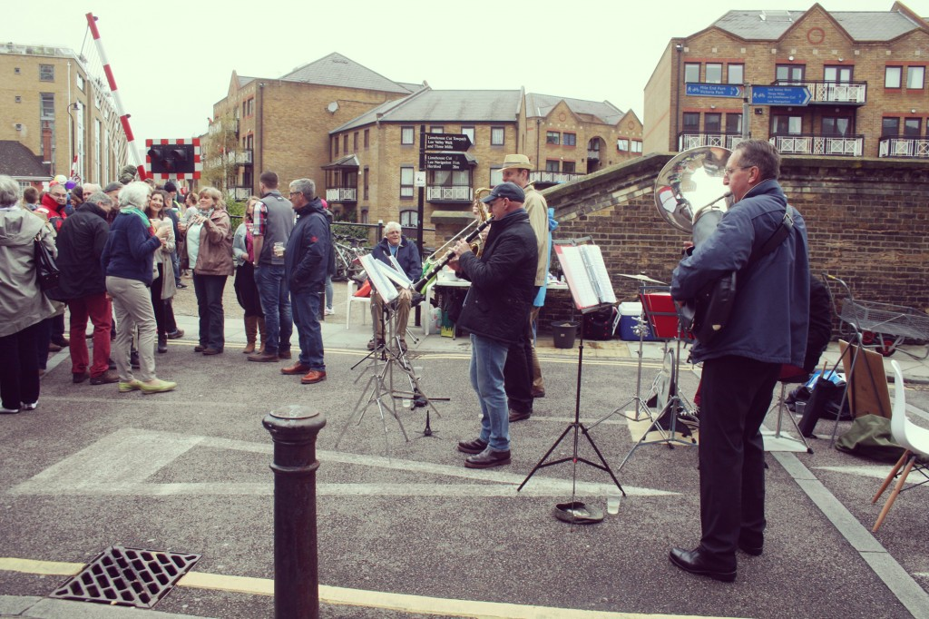 The very generous brass band who contributed their day's earnings to Barts