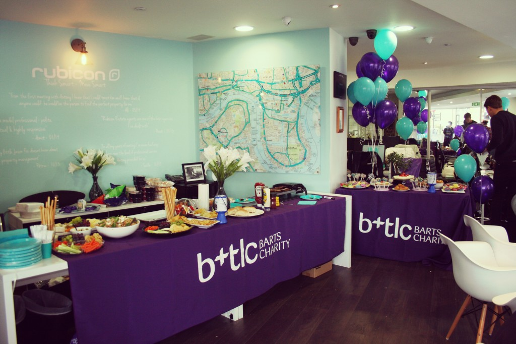 The office all set up with an amazing spread including grilled Waitrose cheeseburgers and some excellent pasta
